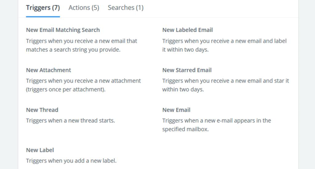 ZapierのGmail連携